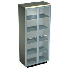 Шкаф для документов со стеклянными дверьми №344