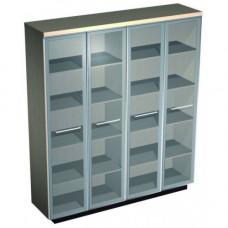 Шкаф для документов со стеклянными высокими дверьми Esperto