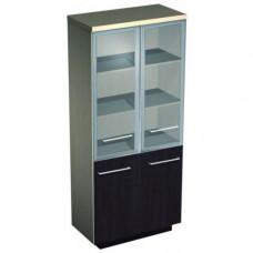 Шкаф для документов со стеклянными дверьми  №343