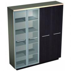 Шкаф комбинированный стекло одежда №357