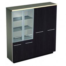 Шкаф комбинированный стекло среднее одежда №358
