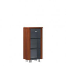 Шкаф узкий закрытый со стеклом в деревянной раме без боковых панелей и топа Senat